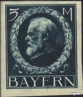Bavière 107II B Avec Charnière 1916 King Ludwig III - Bavière