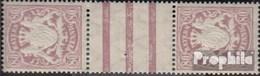 Bavière 68y Zs Paire Avec Interpanneau Avec Charnière 1900 Etat Emblem - Beieren