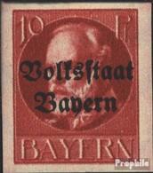 Bavière 119B Neuf Avec Gomme Originale 1920 King Ludwig Avec Surcharge - Bavière