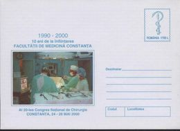 Sante Congres De Chirurgie Salle D'operation, Ustensiles, Televisor,Serpent   / Health    Entier Postal - Roumanie 2000 - Medicina