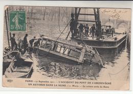 France / Trams / Disaster Postcards - France