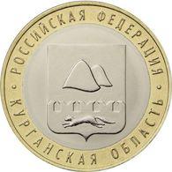 RUSSIA - RUSSIE - RUSSLAND - RUSIA 10 ROUBLES RUBLE REGIONS - KURGAN OBLAST BIMETAL BI-METALL BI-METALLIC UNC 2018 - Russia