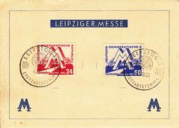 Leipziger Messe / Ersttagsstempel  4.3.1951 - Soviet Zone