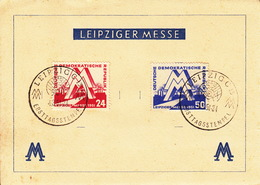 Leipziger Messe / Ersttagsstempel  4.3.1951 - Zona Sovietica