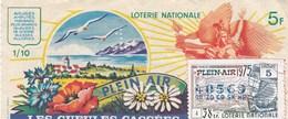 LOTERIE NATIONALE...LES GUEULES CASSEES..PLEIN AIR    1975 - Biglietti Della Lotteria