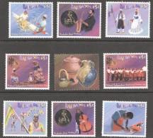 2003  Festivals  Set Of 8 + Label From Souvenir Sheet   MM - MH - Barbados (1966-...)