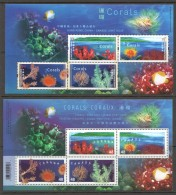 2002  Corals -  Joint Issue With Canada  HK And Canada Souvenir Sheets  UM - MNH - 1997-... Chinese Admnistrative Region