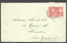 1936  Letter To NZ - South Australia Centenary 2d. Flinders Naval Depot  Cancel - Briefe U. Dokumente