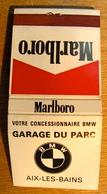 POCHETTE D'ALLUMETTES VOTRE CONCESSIONNAIRE BMW GARAGE DU PARC AIX-LES-BAINS MARLBORO - Boites D'allumettes