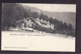 CPA SUISSE - BOVEAU S. CORBEYRIER ( Vaud ) - Hôtel Pension BELLEVUE - TB PLAN Etablissement ANIMATION - VD Waadt