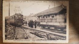 35 - CPA RARE LES ROUSSES (Jura) - Gare Desservant La Colonie Départementale - Tram électrique Morez-Nyon (train++) - Francia