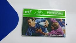 United Kingdom-(btc046)rugby World Cup91-(b)-(40units)-(128d)-price Cataloge3.00£-card+1card Prepiad Free - United Kingdom