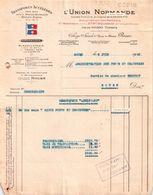 """05/06/1945 UNION NORMANDE Remorquage """"BIGUE PONTS & CHAUSSEES"""" Remorqueur """"ASSISTANT""""- Rouen 76 - Frankreich"""