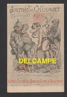 DD / ILLUSTRATEURS / A. WILLETTE / GUERRE 1914-18 / JOURNÉE DE L' HÉRAULT 15OCTOBRE 1916 / AU PROFIT DES OEUVRES DU DÉPt - Wilette