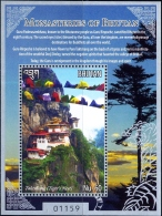 MONASTRIES OF BHUTAN-TAKTSTANG-MS-FV-60Nu-MNH-LIMITED ISSUE-ABHTMS-1 - Bhoutan