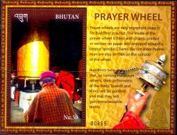 BUDDHISM-PRAYER WHEEL-MS-FV-50Nu-MNH-LIMITED ISSUE-ABHTMS-1 - Bhutan