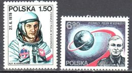 Poland 1978 - Space Miroslaw Hermaszewski - Mi 2563-64 - MNH (**) - Postfrisch - 1944-.... République