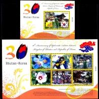 30 YEARS OF DIPLOMATIC RELATIONS-BHUTAN & KOREA-SET OF 2 MS-BHUTAN-MNH-ABHTMS-1 - Bhutan