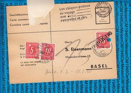 Switzerland Geschaftsantwortkarte 03.08.1950 Lausanne - Schweiz