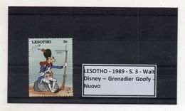 Leshoto - 1989 - S.3 - Walt Disney - Grenadier  - Goofy - Nuovo - (FDC8642) - Lesotho (1966-...)
