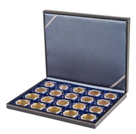 Lindner 2364-2122CE NERA M Coin Case With A Black Insert With 20 Square Compartments. Suitable For Coins Or Coin Capsule - Supplies And Equipment
