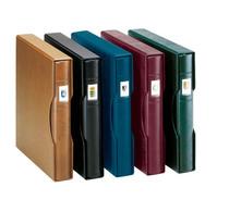 Lindner 814-B Slipcase For Ring Binder REGULAR, Blue - Large Format, Black Pages