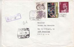 Espagne - Lettre Recom De 1980 ° - Oblit Torré Del Mar Malaga - - 1931-Aujourd'hui: II. République - ....Juan Carlos I