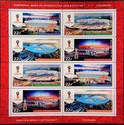 Russia, 2017, Mi. 2465-68, 2018 FIFA World Cup Russia™, Stadiums, MNH - 1992-.... Föderation