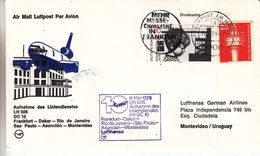 République Fédérale - Lettre De 1979 - 1er Vol Frankfurt Dakar Rio Sao Paulo Asuncion Montevideo - BRD