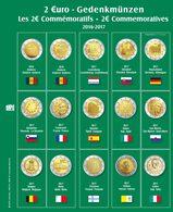 SAFE 7341-18 Münzblatt Mit Vordruck Für 2 EURO 2016 - 2017 - Supplies And Equipment