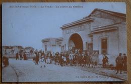 93 : Aulnay-sous-Bois - Publicité Agences N°1 - Agence Immobilière - Repro CPA : Le Prado - Sortie Du Cinéma - (n°10212) - Aulnay Sous Bois