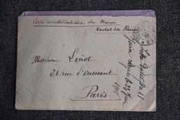 Lettre En FM Du Corps Expéditionnaire Du MAROC ( KASBAH BEN AHMED) - Historical Documents