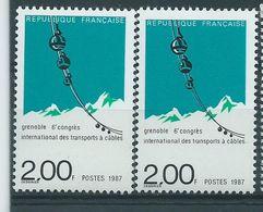 [20] Variétés : N° 2480 Grenoble Vert Très Déplacé + Normal  ** - Variétés Et Curiosités