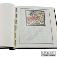 Schaubek Briefmarkengeographie Geographie-Kartenblatt In Farbe DE01O-KBF - Stamps