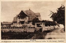 """Giessen,  """"Zur Bergschenke"""", Hotel-Restaurant-Cafe, Kegelbahn, 1934 - Giessen"""