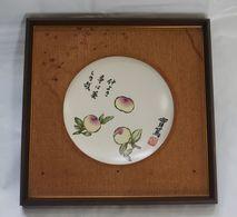 Japanese Framed Ceramic Plate - Asian Art