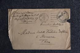 Lettre En FM De BEZIERS, Hôpital Complémentaire N° 29 Vers BRASSAC.. - Guerre De 1914-18