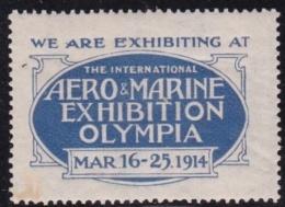 Etats Unis - Vignette Expo Aéro & Marine/ Olympia - 1914 - Neuf * - TB - Erinofilia