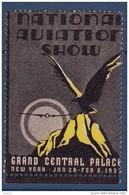 Etats Unis - Vignette Aviation Show New York 1937 - Neuf ** - TB - Erinofilia