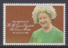 Falkland Islands 1980 80th Birthday Queen Mother 1v ** Mnh (37825) - Falklandeilanden