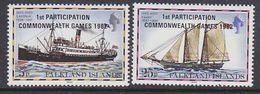 Falkland Islands 1982 Commonwealth Games 2v ** Mnh (37825A) - Falklandeilanden