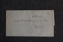Courrier Manuscrit Adressé Par La Ville D'AMIENS, Administration Des Hospices Vers AMIENS. - 1801-1848: Precursors XIX