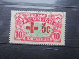 VEND BEAU TIMBRE DE LA REUNION N° 81 , CROIX BRISEE , (X) !!! - Reunion Island (1852-1975)