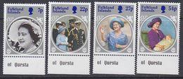 Falkland Islands 1985 Life And Times Of The Queen Mother 4v (+margin) ** Mnh (37825G) - Falklandeilanden