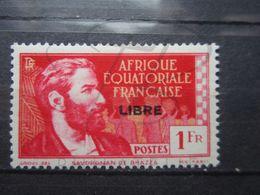 VEND BEAU TIMBRE D ' AFRIQUE EQUATORIALE FRANCAISE N° 115 , (X) !!! - A.E.F. (1936-1958)
