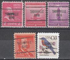 USA Precancel Vorausentwertung Preo, Locals Ohio, Thornville 704, 5 Diff. - Vereinigte Staaten