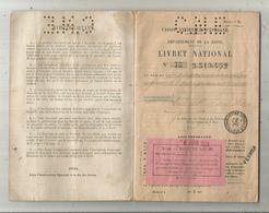 Livret National Caisse Nationaled'Epargne , Département De La Seine , 1921, 2 Scans, 32pages,frais Fr 1.95 E - Documentos Antiguos