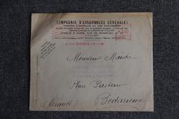 Lettre De PARIS Vers BEDARIEUX - Empreintes Machines. - Marcophilie (Lettres)