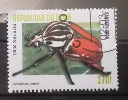 FRANCOBOLLI STAMPS BENIN AFRICA 2000 SERIE INSETTI - Benin – Dahomey (1960-...)