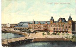POSTAL   AMSTERDAN  - PAISES BAJOS  - ESTACION CENTRAL  (CENTRAAL STATION) - Amsterdam